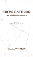 (omnibus) - CROSS GATE 2002 ~a reliable combinations~ 2002.12.01 ESP SHIBUYA MI HALL